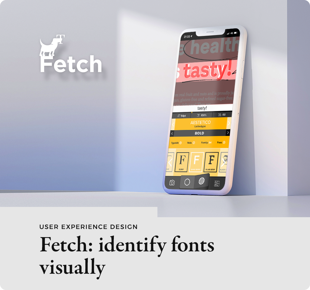 Fetch - identify fonts visually cover